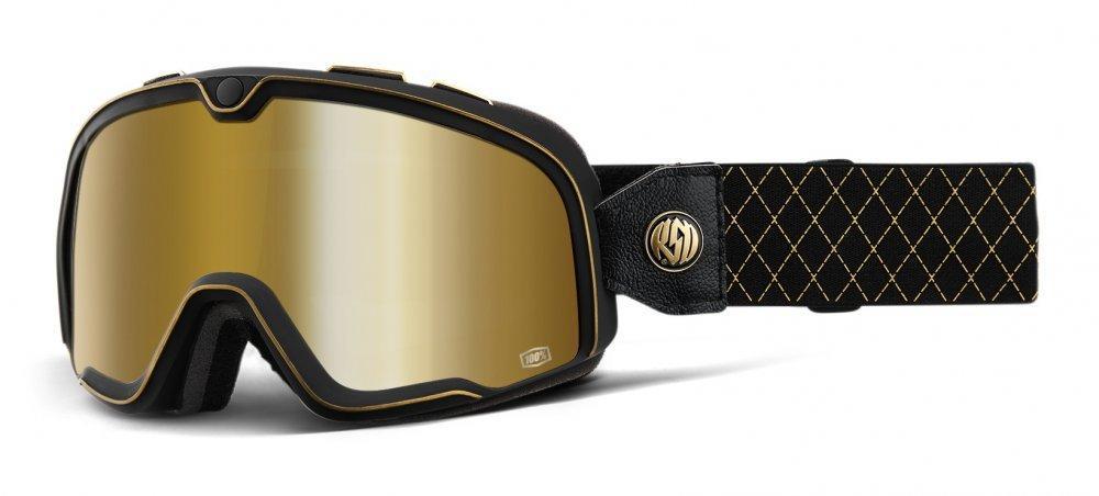 Мото очки 100% BARSTOW Goggle Roland Sands - True Gold Mirror Lens     , Mirror Lens