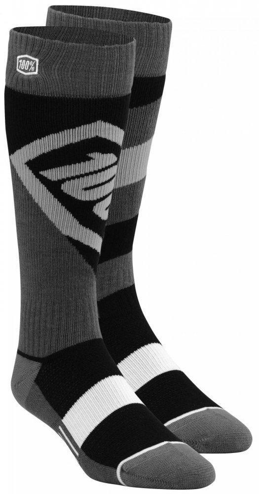 Детские мото носки Ride 100% TORQUE Youth Moto Socks [Black], L/XL