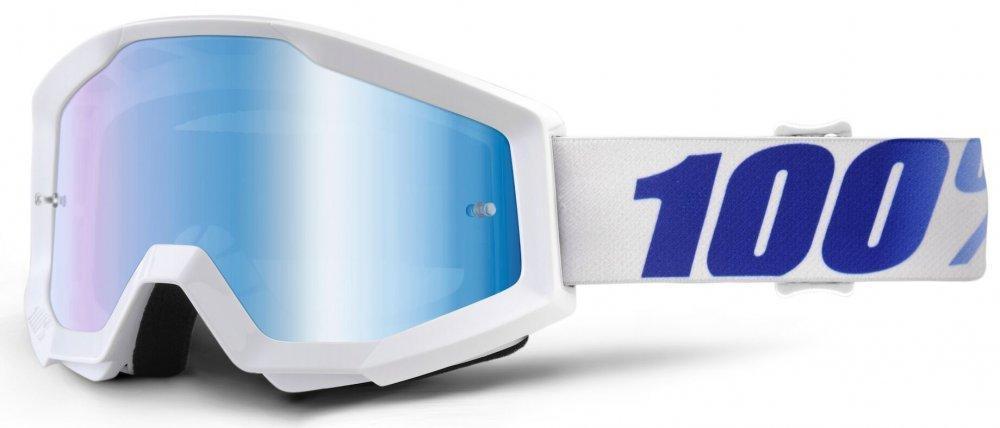 Мото очки 100% STRATA Goggle Equinox - Mirror Blue Lens, Mirror Lens