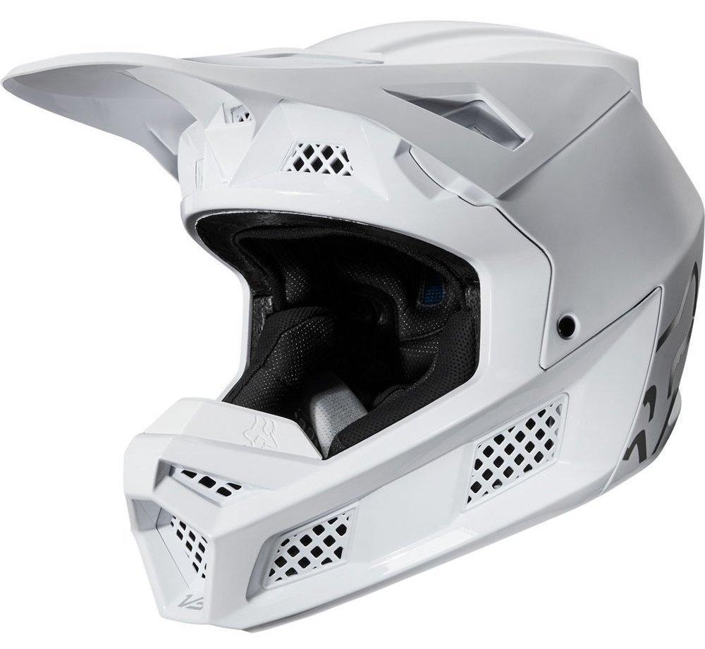 Мотошлем FOX V3 SOLIDS HELMET [White/Silver], M