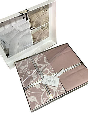Комплект постільної білизни First Choice Сатин Люкс Sweta pudra, фото 2