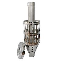 Труба-корзина (ребро) ø120 мм 1 мм 1 метр AISI 321 Stalar для камней дымохода сауны бани из нержавеющей стали
