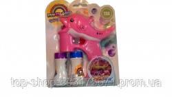 Пистолет мыльные пузыри CF19806 цветные рыба запаска