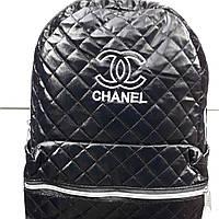 Спортивный женский рюкзак стеганый  плотная ткань с подкладкой Шанель