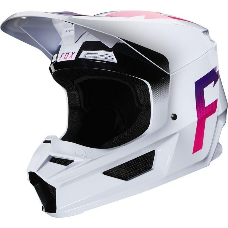 Мотошлем FOX V1 WERD HELMET [WHITE], S