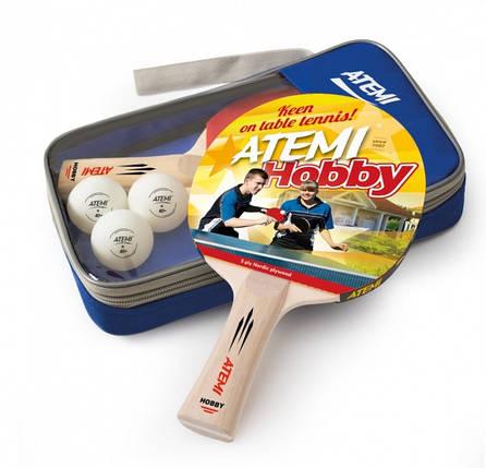 Набор для настольного тенниса Atemi HOBBY (2р+3м+чехол), фото 2