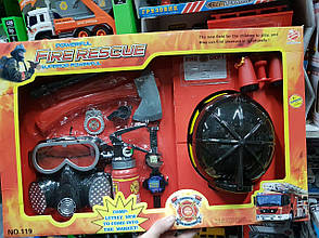 """Набор пожарного """"Fire Rescue Set"""" 10 элементов HENG XING TOYS (110/18/19), фото 2"""