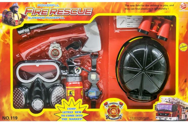 """Набор пожарного """"Fire Rescue Set"""" 10 элементов HENG XING TOYS (110/18/19)"""