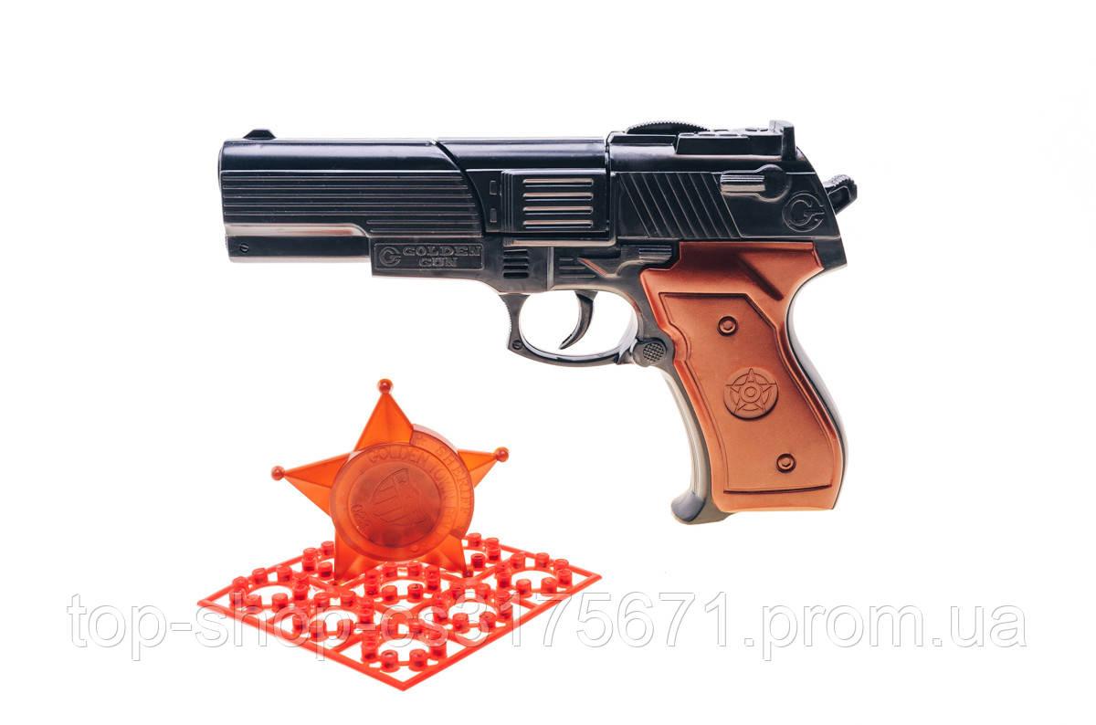 Шахаб игрушечный пистолет с пистонами и нагрудный значок 124