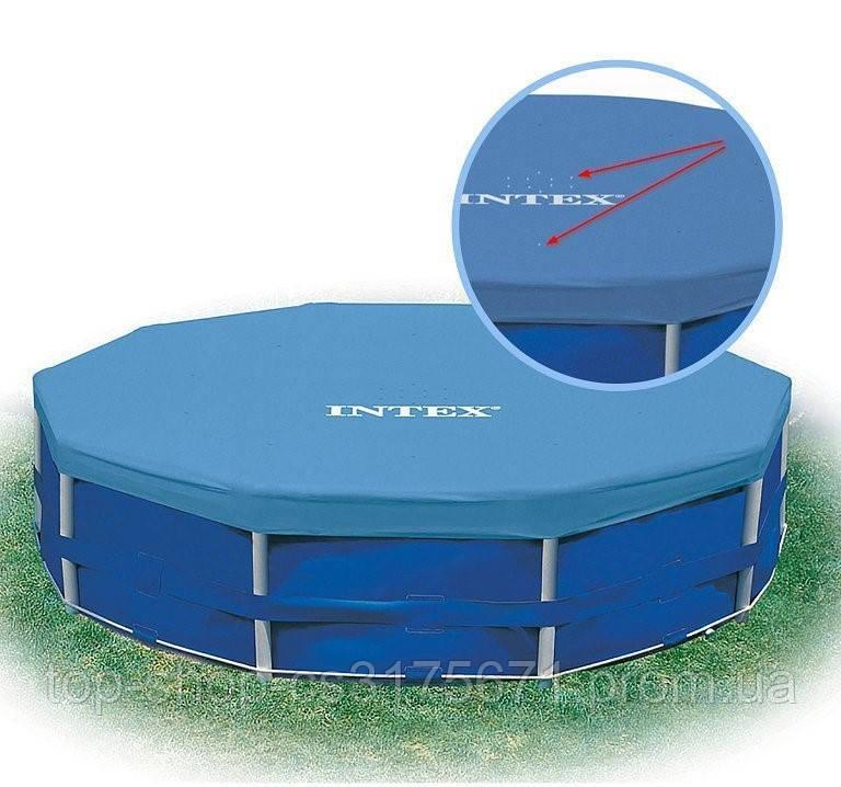 Тент Intex 28031 используется с круглыми каркасными бассейнами