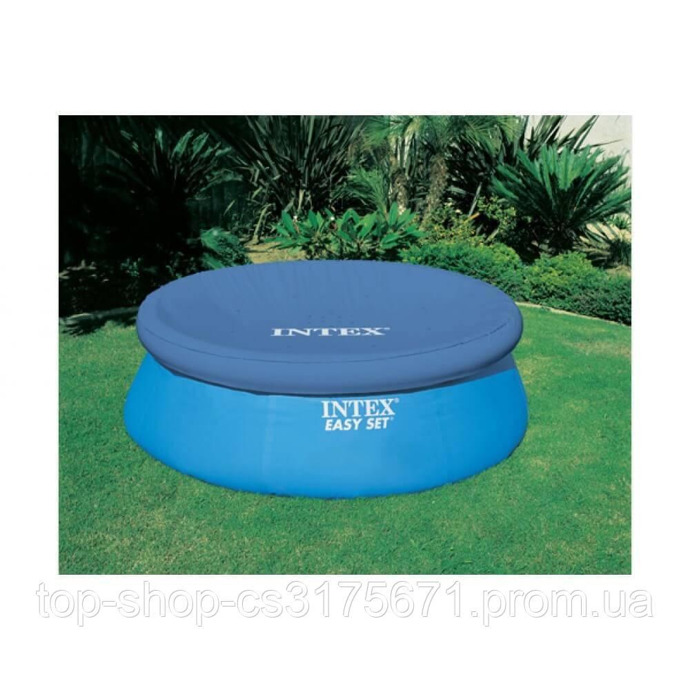 Тент Intex 28021 используется с круглыми каркасными бассейнами