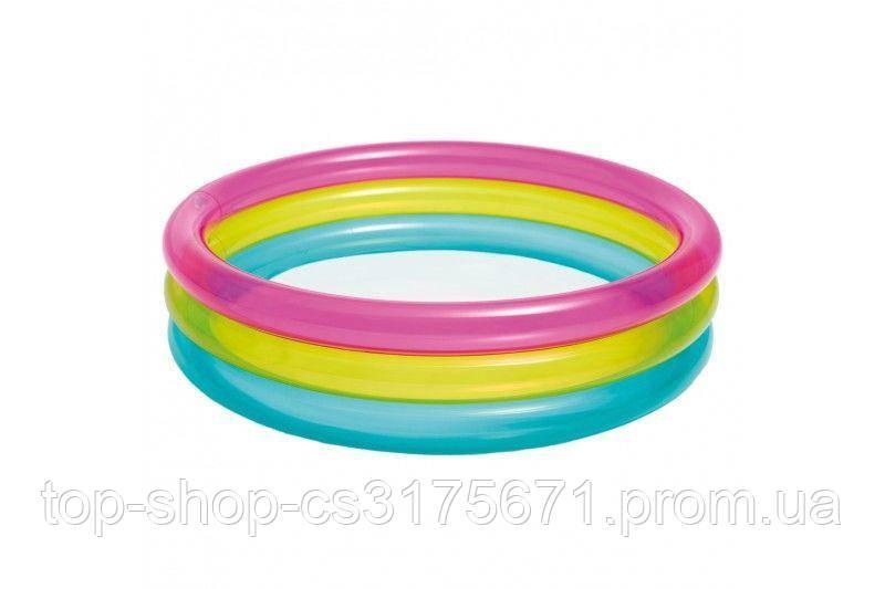 Надувной детский бассейн Intex 57104NP Rainbow Baby Pool