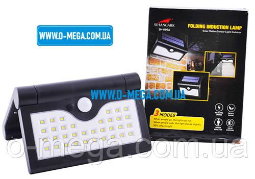 Светодиодный настенный светильник с датчиком движения на солнечной батарее 34SMD Solar Powered Wall Light