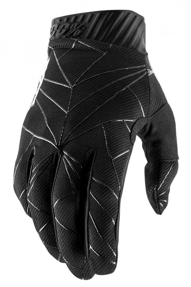 Мото перчатки Ride 100% RIDEFIT Glove [Black/White], M (9)