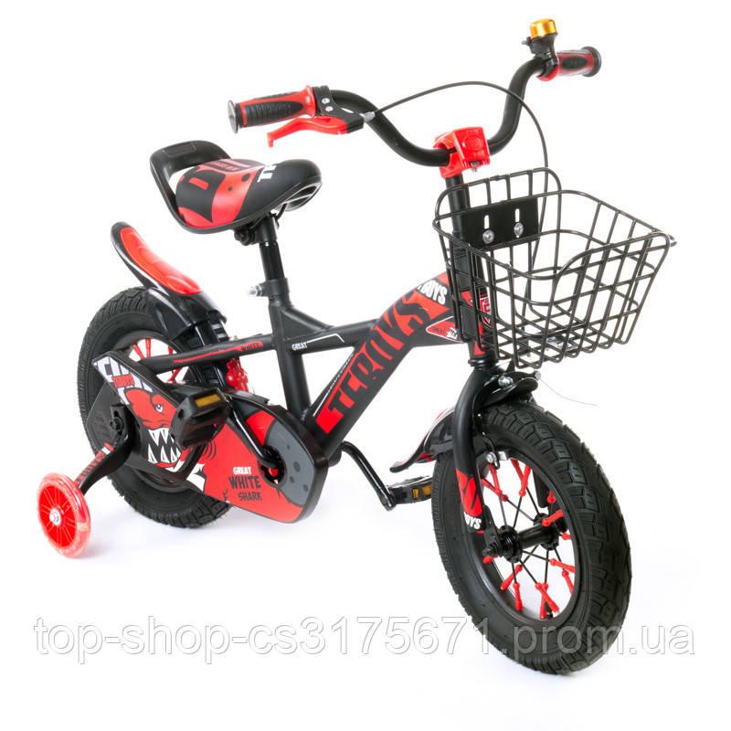 Детский велосипед  TZ-007 12 дюймов красный