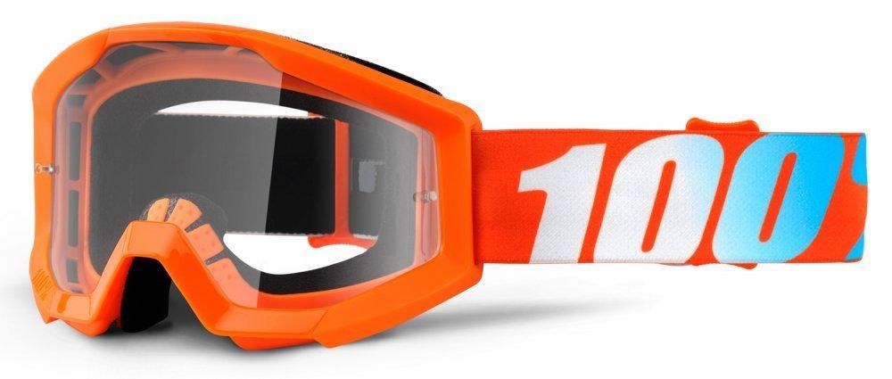 Мото очки 100% STRATA Goggle Orange - Clear Lens, Clear Lens