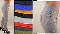 Женские цветние однотонние брюки в больших размерах 2XL\3XL, 3XL\4XL Польша стрейч 95%хлопок