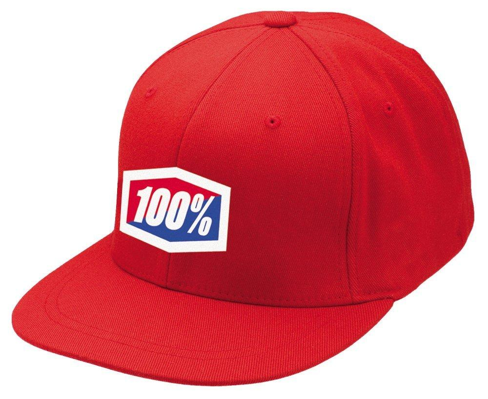 """Кепка Ride 100% """"ICON"""" 210 Fitted Hat Red, L/XL"""