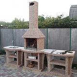 """Бетонний Стіл-мийка """"Каїр"""" для вуличного каміна, барбекю, фото 6"""