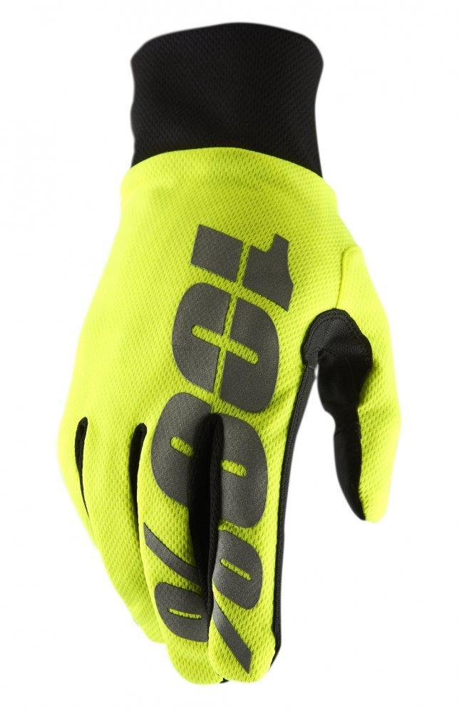 Зимние мото перчатки RIDE 100% BRISKER Hydromatic Waterproof Glove [Neon Yellow], M (9)