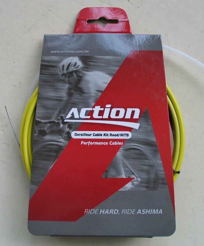 Набор оплеток и тросов Ashima Action [YELLOW], Gear Ø1.2 mm