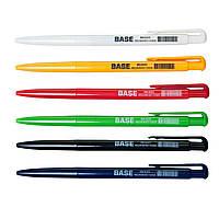 Ручка кулькова автоматична BASE, 0,7 мм, JOBMAX, чорна 40шт в упак. /20/800/
