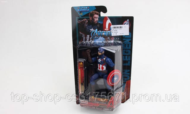 Фигурки D-7758-6 Капитан Америка герои