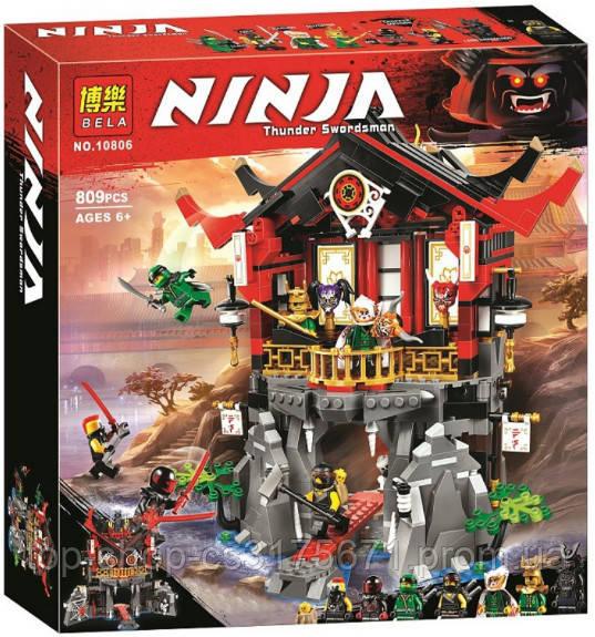 Конструктор Bela Ninja 10806 Храм воскресения 809 детали