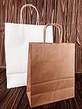 Пакеты с крученой ручкой из белой крафт бумаги, фото 4