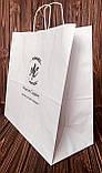 Пакеты с крученой ручкой из белой крафт бумаги, фото 5