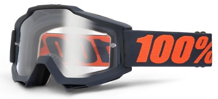 Мото очки 100% ACCURI ENDURO Goggle Gunmetal - Clear Dual Lens, Dual Lens