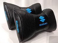 Подушка-бабочка с логотипом автомобиля Suzuki чёрные