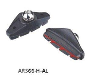 Тормозные колодки ASHIMA Advanced ARS66-H-AL для ободных вело тормозов, шоссейные