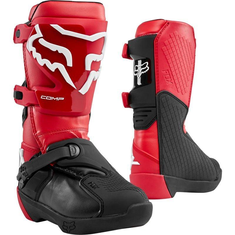 Детские мотоботы FOX Comp Youth Boot [FLAME RED], 2