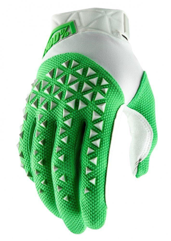 Мото перчатки Ride 100% AIRMATIC Glove [Silver/Fluo Lime], S (8)