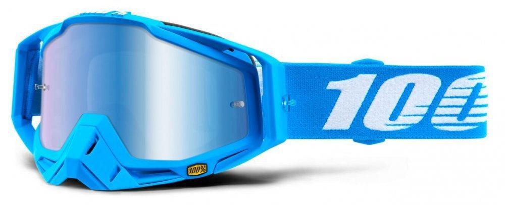 Мото очки 100% RACECRAFT Goggle Monoblock - Mirror Blue Lens, Mirror Lens