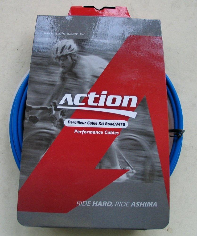 Набор оплеток и тросов Ashima Action [BLUE], Brake Ø1.5 mm