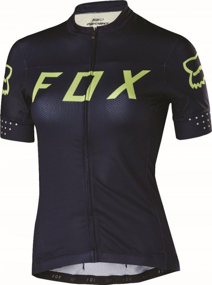 Женская вело джерси FOX WOMENS SWITCHBACK JERSEY [NVY/YLW], S