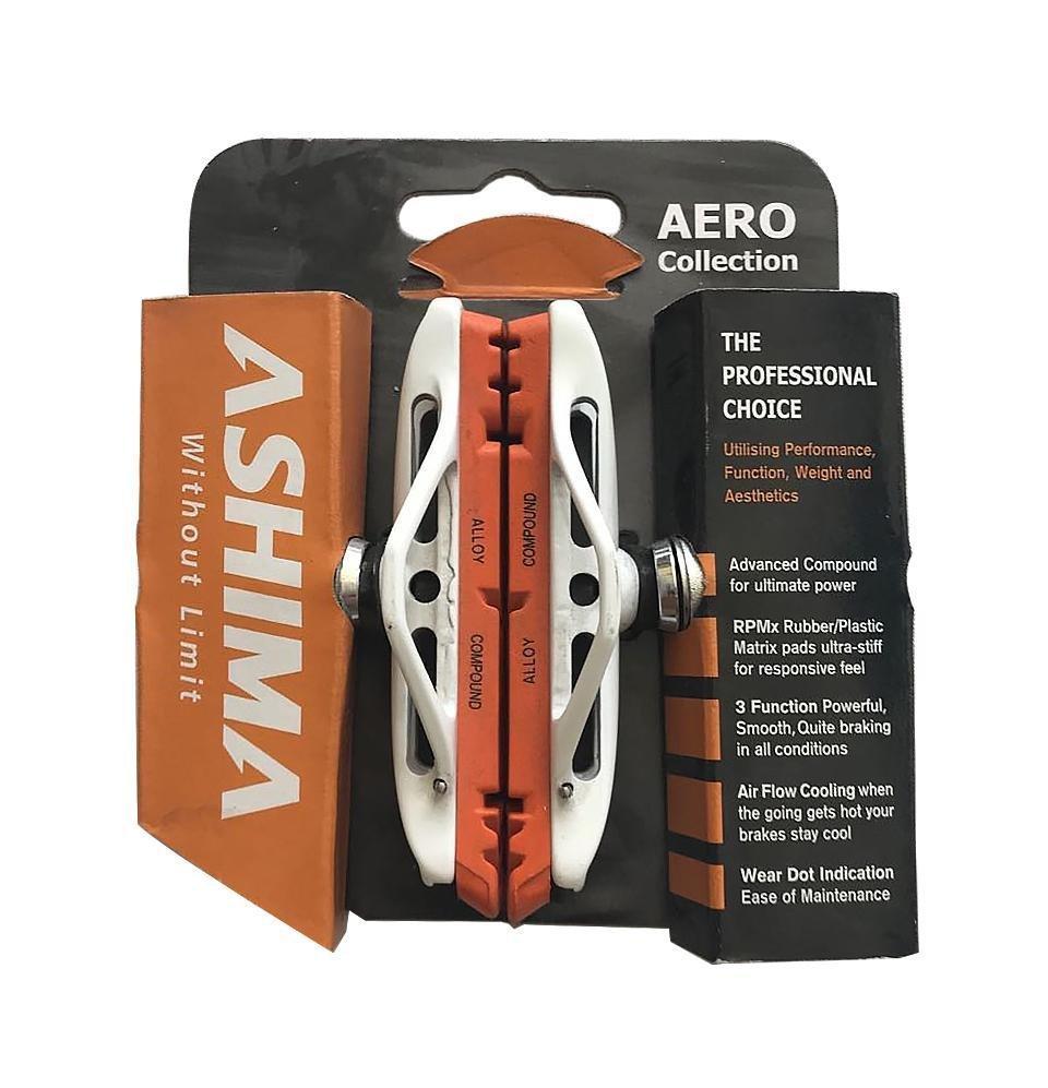 Тормозные колодки ASHIMA AERO RPMx + Pro-G Alloy Compounds  для ободных вело тормозов V-Brake