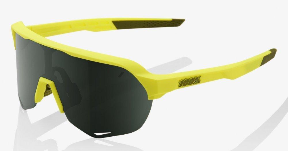 Велосипедные очки Ride 100% S2 - Soft Tact Banana - Grey Green Lens, Colored Lens