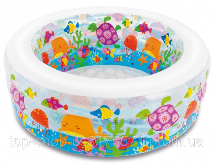 Детский надувной бассейн манеж и батут Аквариум Intex 58480