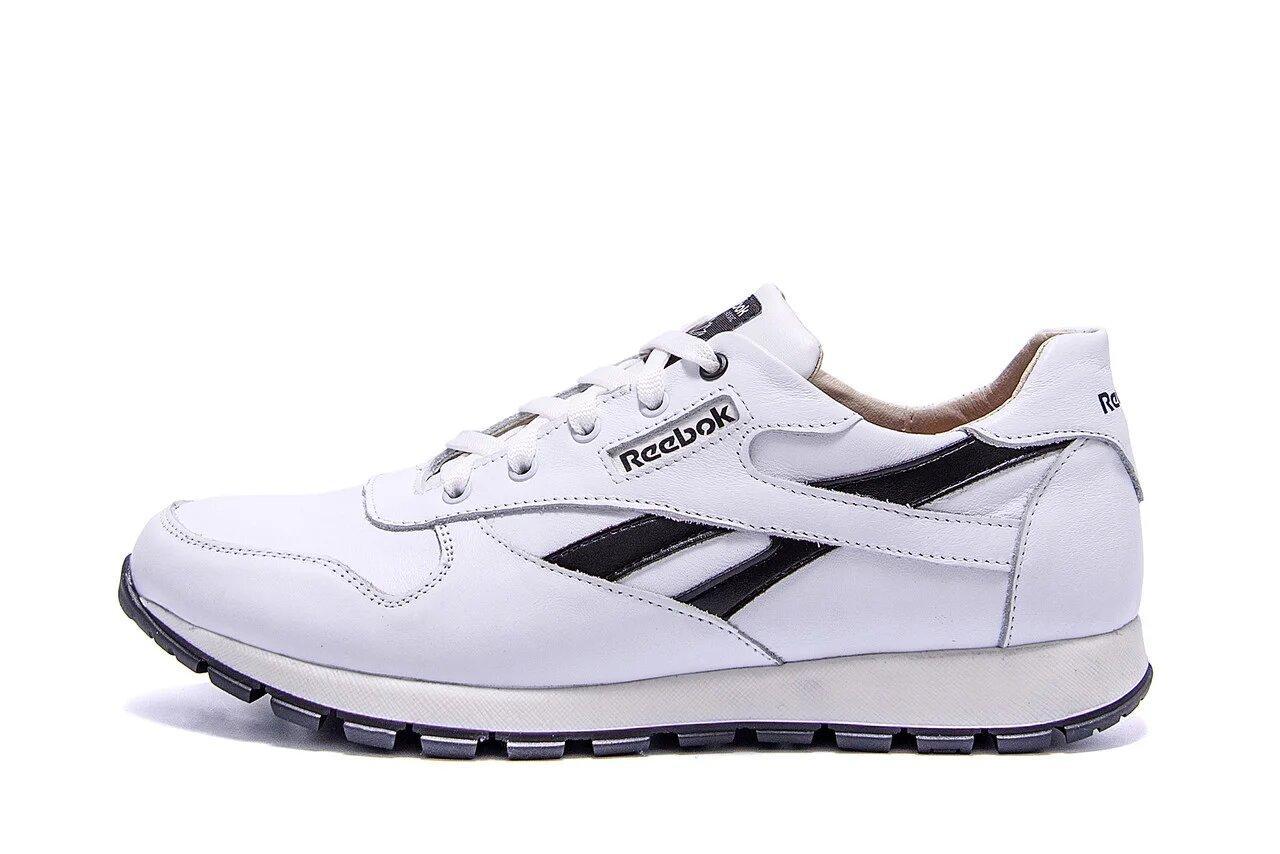 Мужские кожаные кроссовки Classic White р. 43 44 45