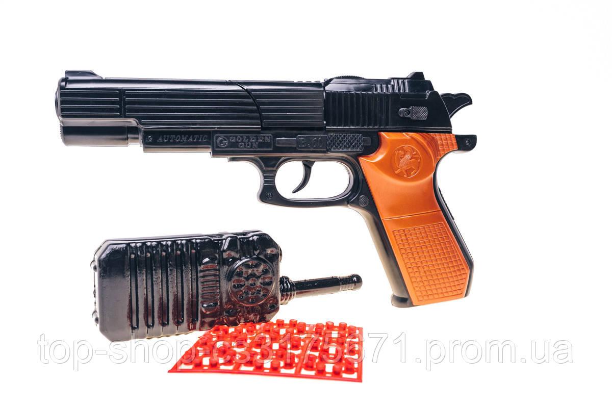 Б60 Игрушечный пистолет с пистонами и рацией 252