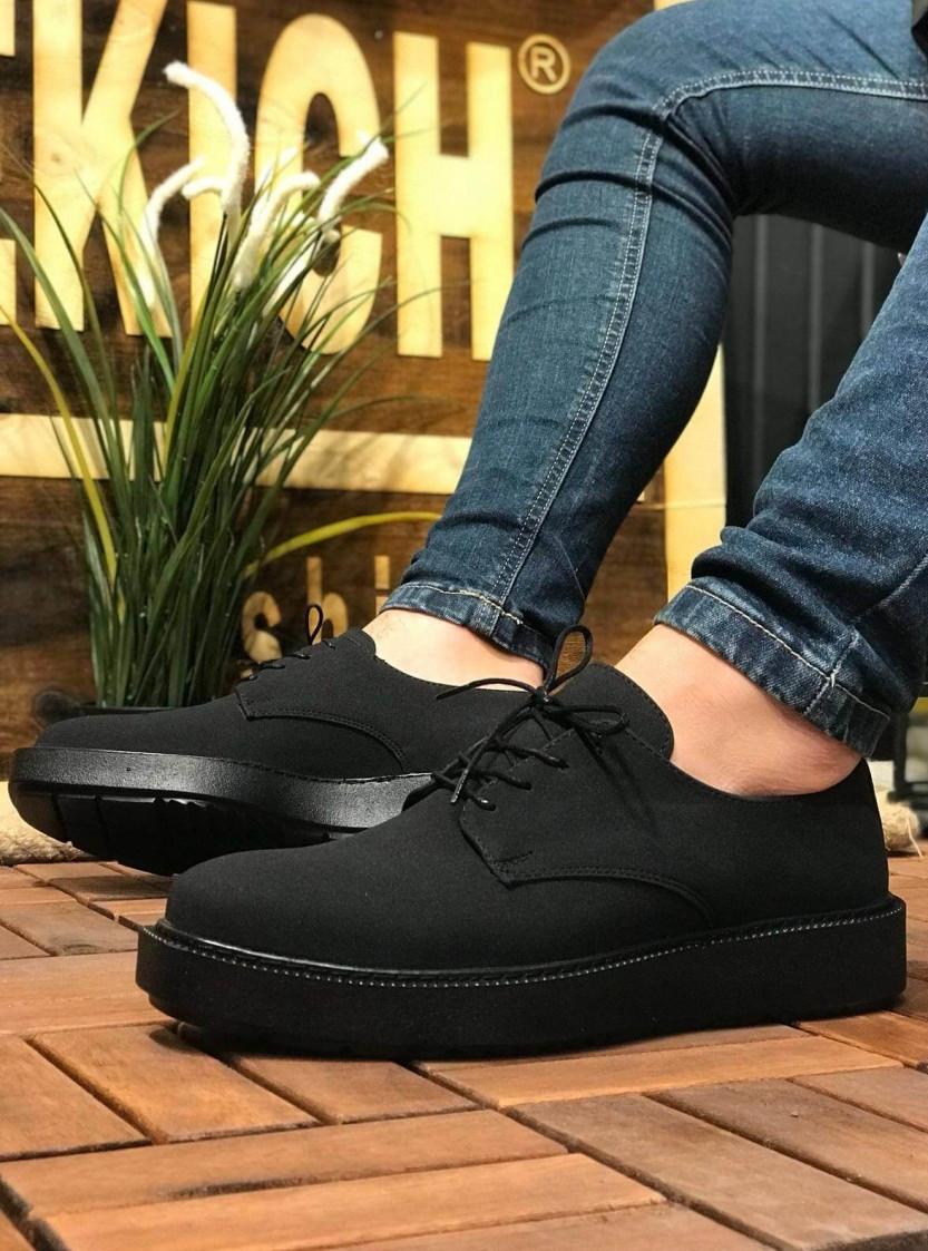 Мужские спортивные туфли черные матовые Chekich CH001