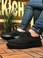 Мужские спортивные туфли черные матовые Chekich CH001, фото 1