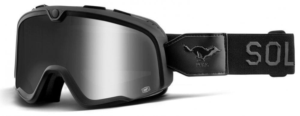 Мото очки 100% BARSTOW Goggle Solitario - Silver Lens, Mirror Lens