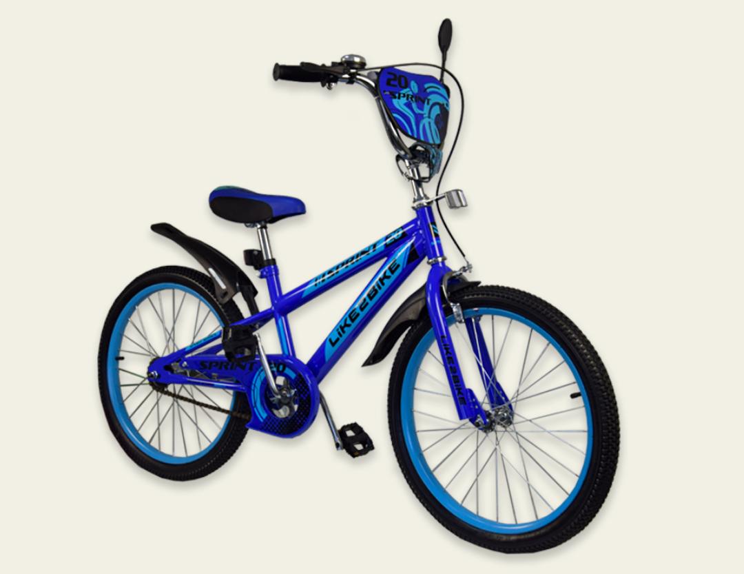 Детский двухколесный велосипед колеса 20 дюймов 192035 Like2bike Sprint синий
