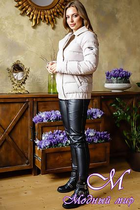 Красивая женская куртка весна осень (р. 42-52) арт. Карэн крем, фото 2