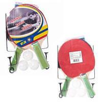 Теннис наст.BT-PPS-0058 ракетки (1,0см,цвет.ручка)+3мяча+сетка пласт./50/