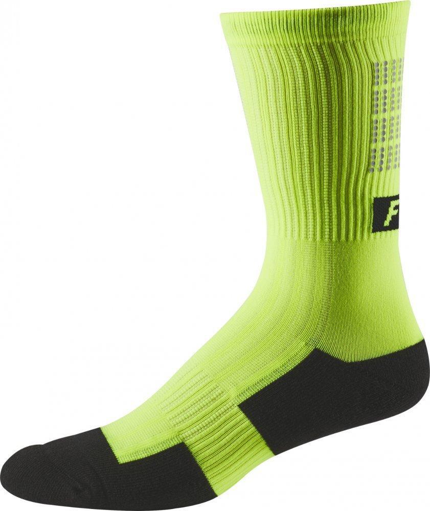 """Вело шкарпетки FOX 8"""" TRAIL SOCK LUNAR [GLO YELLOW], S/M"""